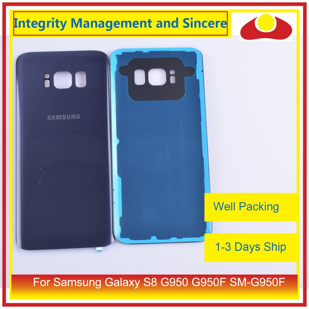 50Pcs/lot For Samsung Galaxy S8 G950 G950F SM-G950F Housing Battery Door Rear Back Glass Cover Case Chassis Shell enlarge
