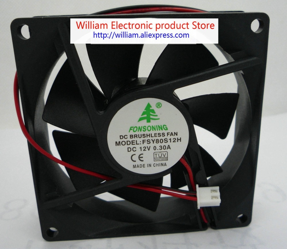 Nuevo Original FONSONING 8025 cm 12 v 0.3a fsy80s12h ventilador de refrigeración