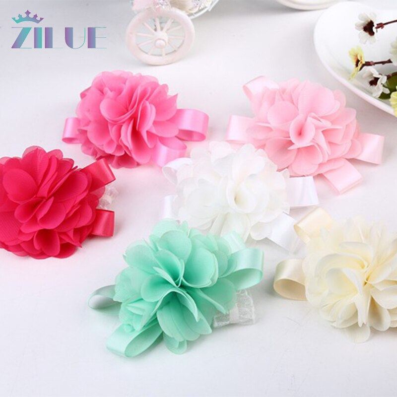Zilue 50pieces/lot  Prom corsage Wrist Flower 5 colors Bridesmaid Accessories in Wedding decoration Low-price Wholesale