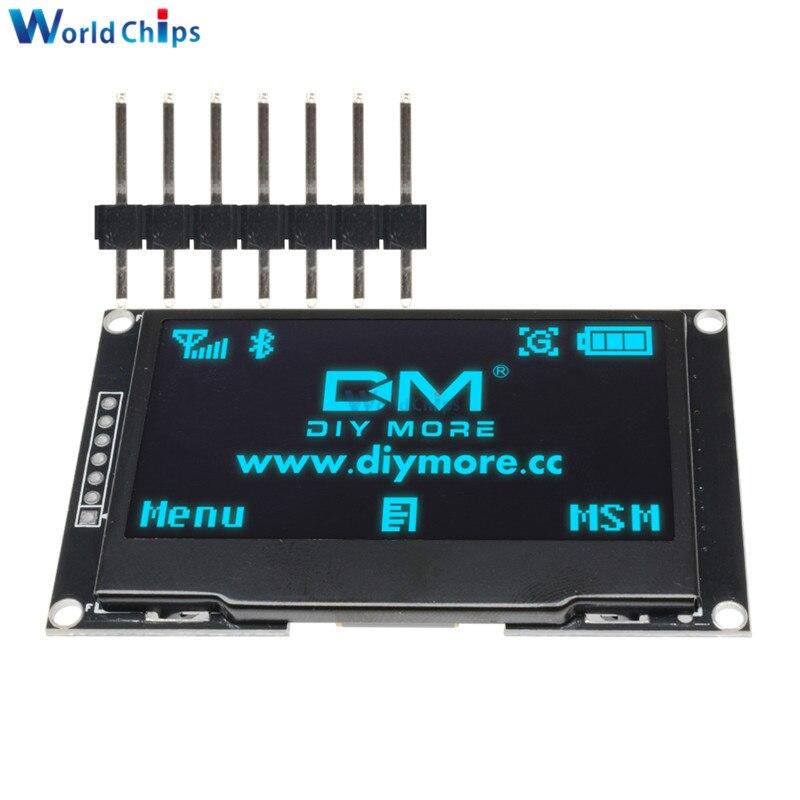 "Diymore azul 2,42 ""pantalla LCD de 2,42 pulgadas 128x64 Módulo de pantalla OLED CII I2C SPI serie 12864 pantalla OLED para C51 STM32 SPD0301"