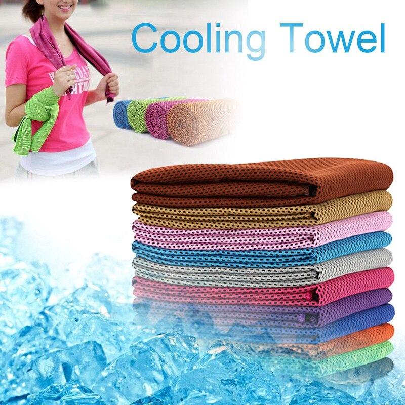 Летние холодные полотенца, охлаждающее полотенце для занятий спортом, бегом, в тренажерном зале (становится прохладным после того, как поло...