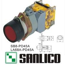 مفتاح بـزر دفع مؤقت مضيء مع SB8 LED متكامل (LA68A LAY39)-PD45A