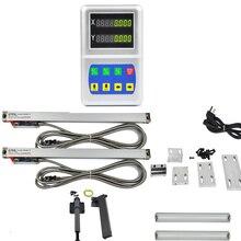 Fonction Simple DRO LED (dro) lecture numérique à 2 axes avec échelles linéaires optiques de taille mince règle 5um 0-600mm