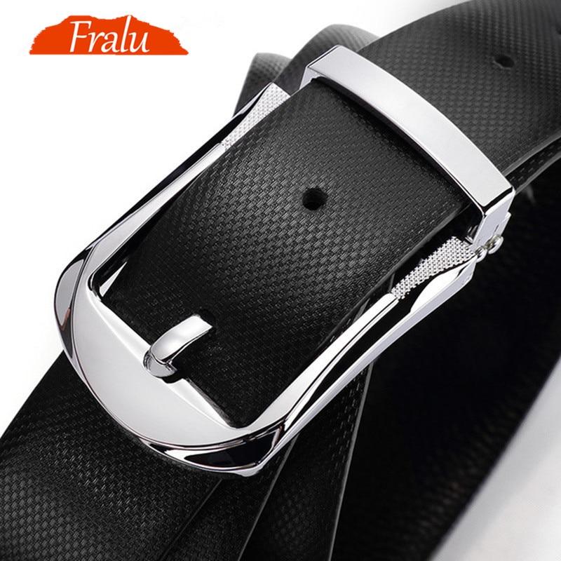 FRALU مصمم أحزمة حزام الرجال الطبقة الأولى جلد البقر حزام الذكور الجلود مشبك الأعمال عادية بنطلون حزام الذكور