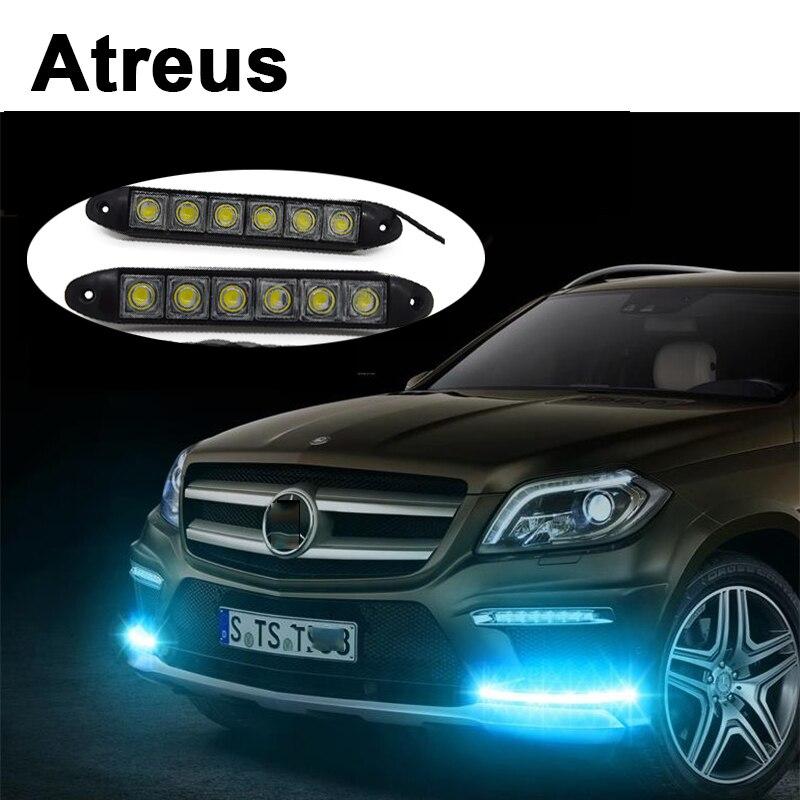 Atreus 2 pièces 6 LED pour Lexus Honda Civic Opel astra h j Mazda 3 6 Kia Rio Ceed Volvo Lada voiture feux diurnes lampe DRL LED
