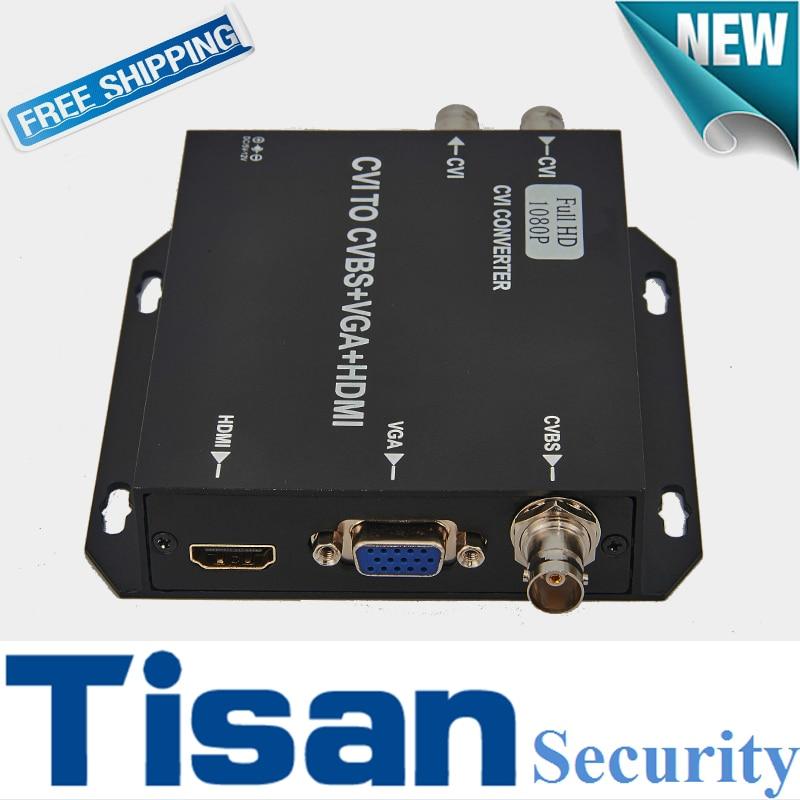 720P 960H 1080P CVI  HD to HDMI CVBS VGA  Video Converter Support CVI loop output enlarge