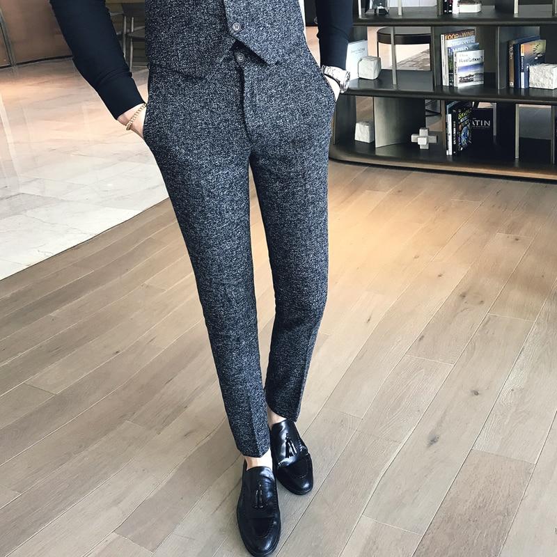 Мужские облегающие брюки, мужские брюки для официального костюма, мужские брюки в стиле Corean, мужские духи для офиса, мужские облегающие брюки