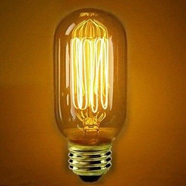 Светодиодные круглые лампы 40 Вт E27 ретро индустриальная лампа накаливания Эдисона (110 В или 220 В)