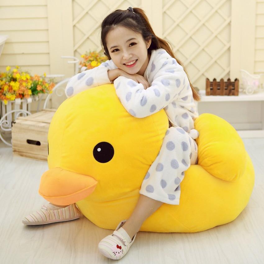 GGS 70cm Stuffed Dolls Rubber Duck Hongkong Big Yellow Duck Plush Toys Hot Sale Best Gift for kids girl
