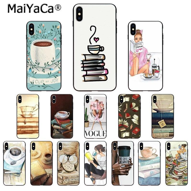 Maiyaca, OK First coffee book, funda de teléfono de TPU para iPhone 11 pro max 7 8 plus 6 6plus 6splus X Xs Xr XsMax 5 5s SE, funda