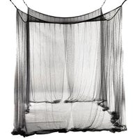 4 corner bed netting canopy mosquito net for queenking sized bed 190210240cm black