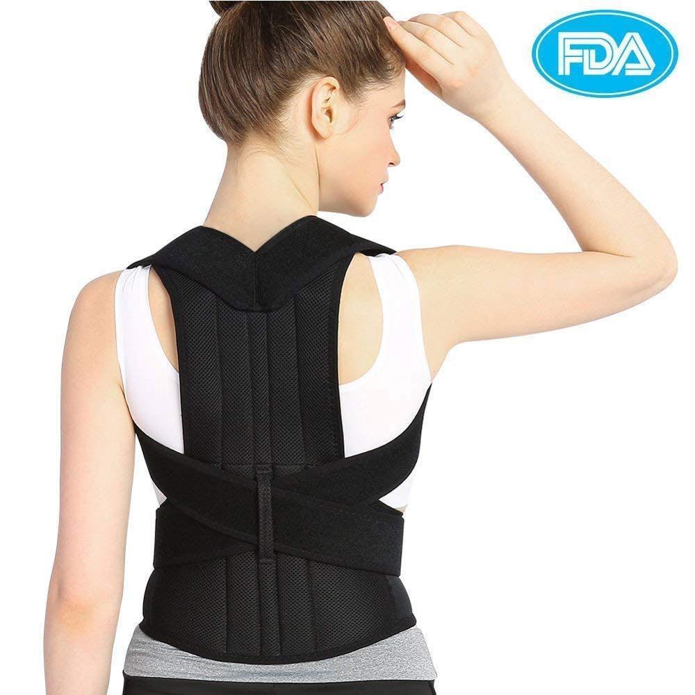 Completa Voltar Ombro Postura Corrector Brace para Superior e Inferior do Suporte Para as Costas Aliviar Desleixo B Desleixo Cifose Torácica Dor Nas Costas