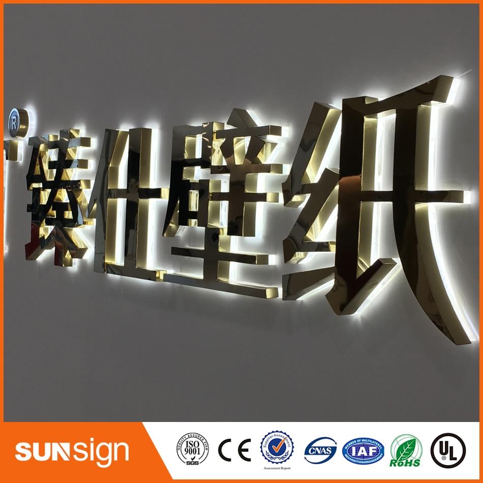 Рекламные вывески оптом светодиодная акриловая буква вывеска рекламные светодиодные знаки с подсветкой