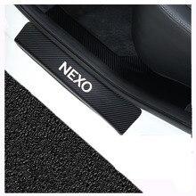 Car Accessories Car Door Sills For Hyundai Nexo Door Threshold Plate Door Sill Scuff Plate Carbon Fi