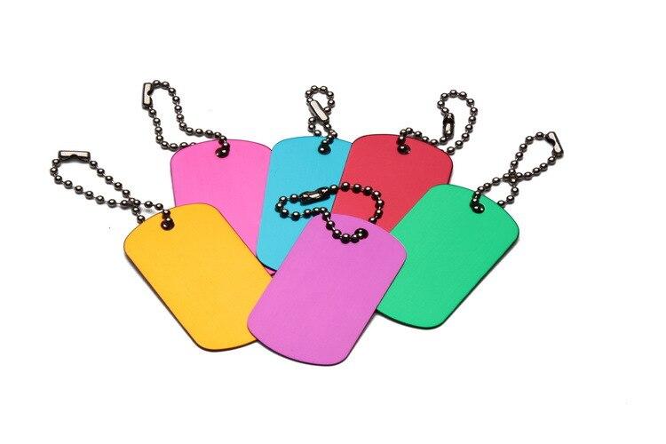 1000 pcs/lot  BLANK ENGRAVED dog tag pet ID luggage charm Aluminum tag free shipping