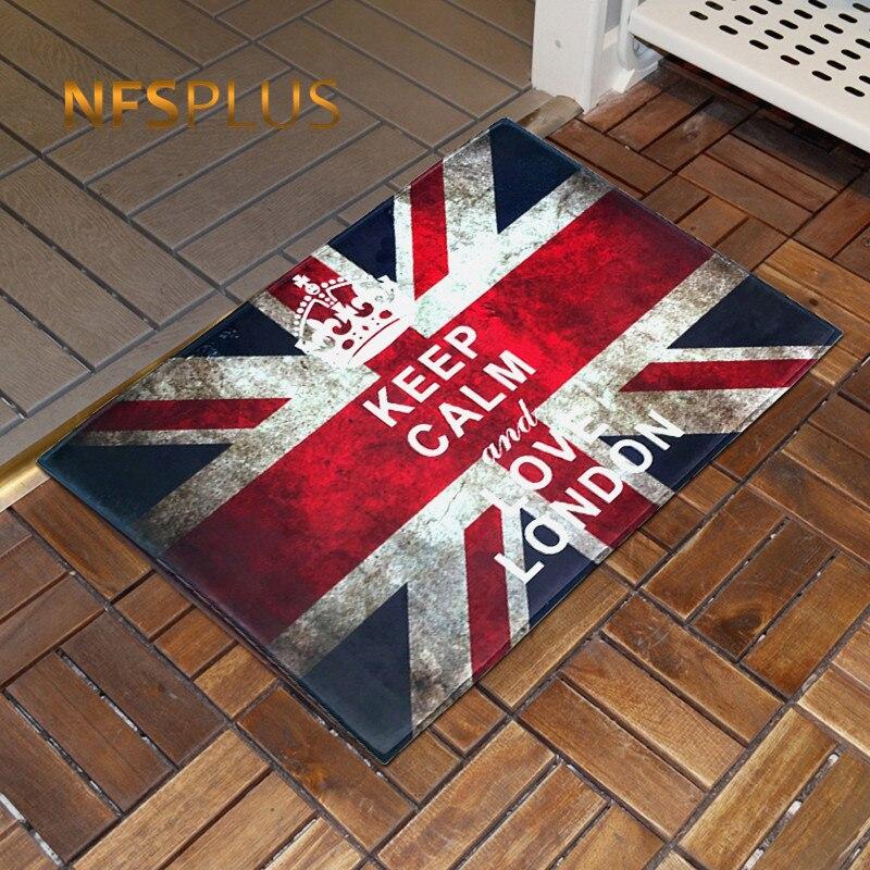 Alfombra de suelo antideslizante con bandera Vintage, bandera británica, Reino Unido, Union Jack, alfombra de suelo impresa, Alfombra de cocina, Alfombra de baño, 3 tamaños, 6 diseños
