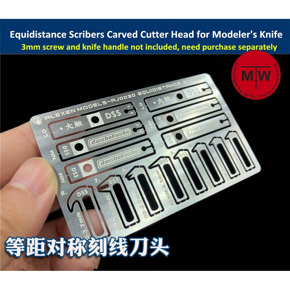 במרחק שווה Scribers סימטרי חריטת משטח חריץ מגולף קאטר ראש 8 ב 1 כלים עבור Gundam צבאי דגם ערכת תחביב