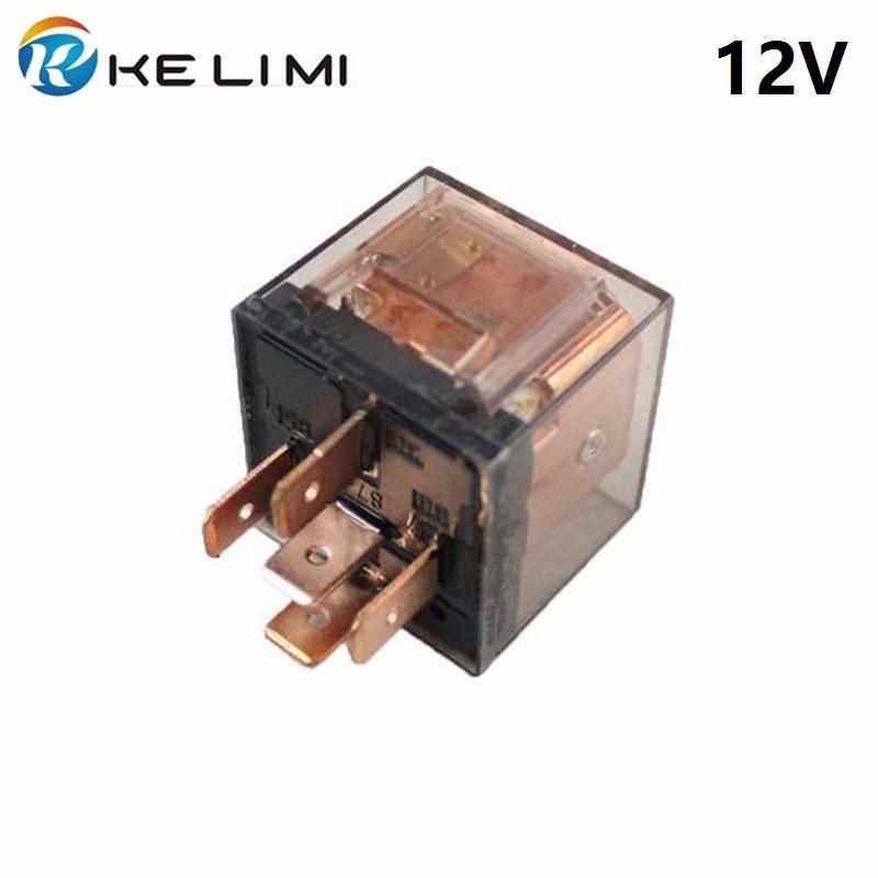 Автомобильное реле KELIMI 80a 12 Вольт, катушка постоянного тока, 4 Pins, 5 Pins, 24 В, сверхмощное ударное литое прозрачное реле SPDT