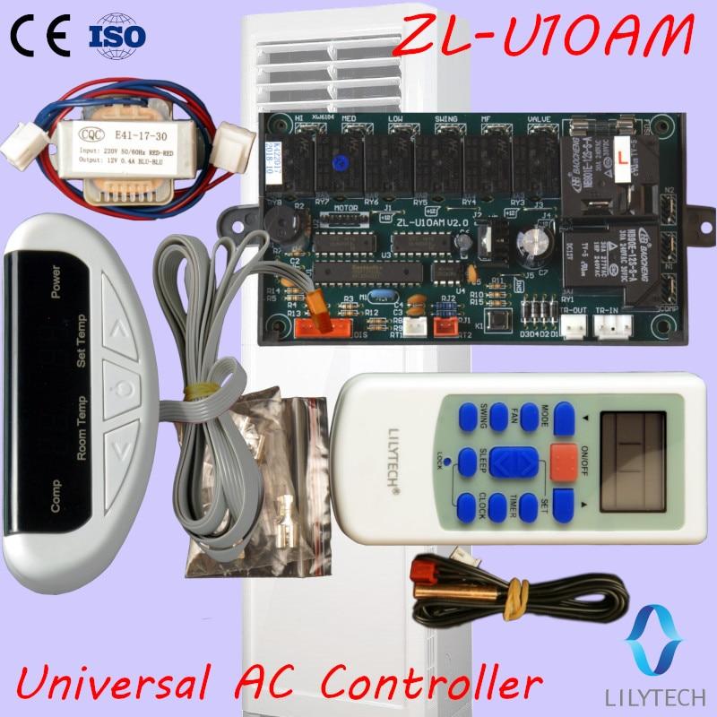 ZL-U10AM, Universal A/C control system, Universal AC controller, Universal ac control PCB, Remote and Board, Lilytech