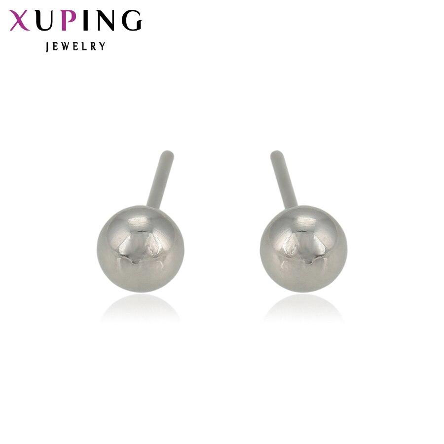 Xuping elegante brinco nova moda grande parafuso prisioneiro brincos de aço inoxidável jóias bonito presentes para festa casamento 93622
