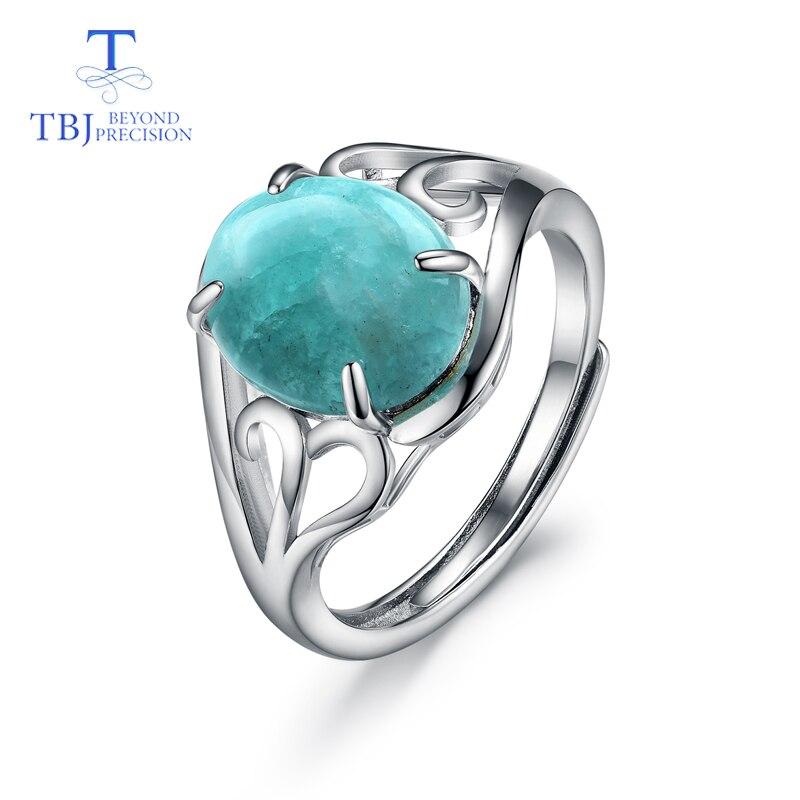 TBJ, натуральный драгоценный камень, Амазонит, кольца Larimar, кольца из стерлингового серебра 925 пробы, модные ювелирные украшения для девочек, хороший подарок на день рождения