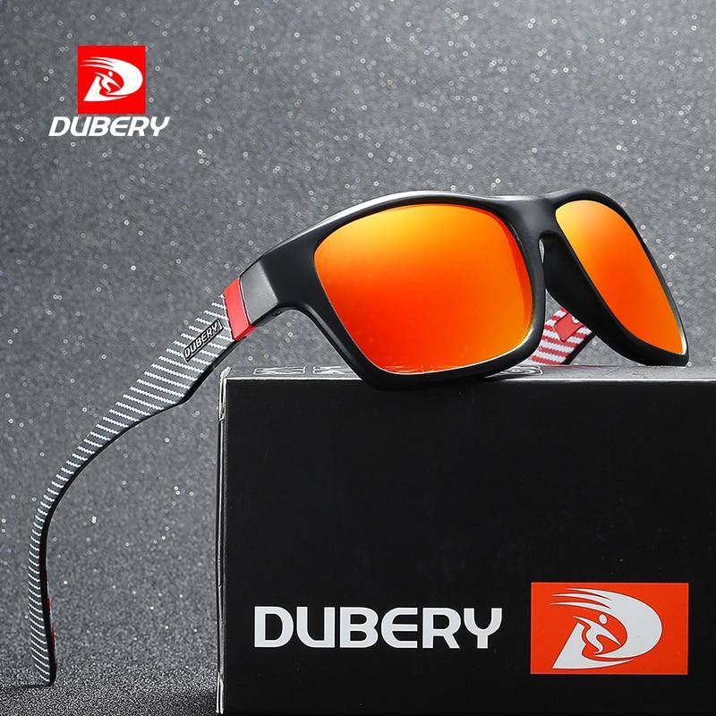 DUBERY Sunglasses Men Polarized Sun Glasse For Men 2019 Women Polarized Square Black Sunglasses Male