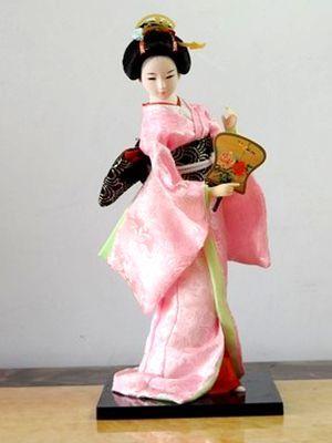 Абсолютно новая импортная японская кукла гейша шелк и Кимоно куклы японское креативное украшение татами Хо статуя украшение для дома