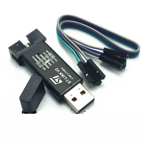 Программатор ST LINK Stlink ST-Link V2 Mini STM8 STM32 для загрузки с чехлом DuPont Cable, 1 комплект