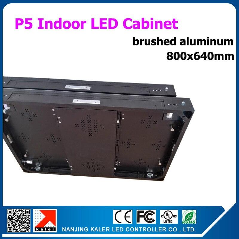 TEEHO-ملف خزانة عرض ألومنيوم LED مقاس 800 × 640 مللي متر ، 800 × 640 مللي متر P5 ، لوحة عرض فيديو للأعمال والعروض الحية