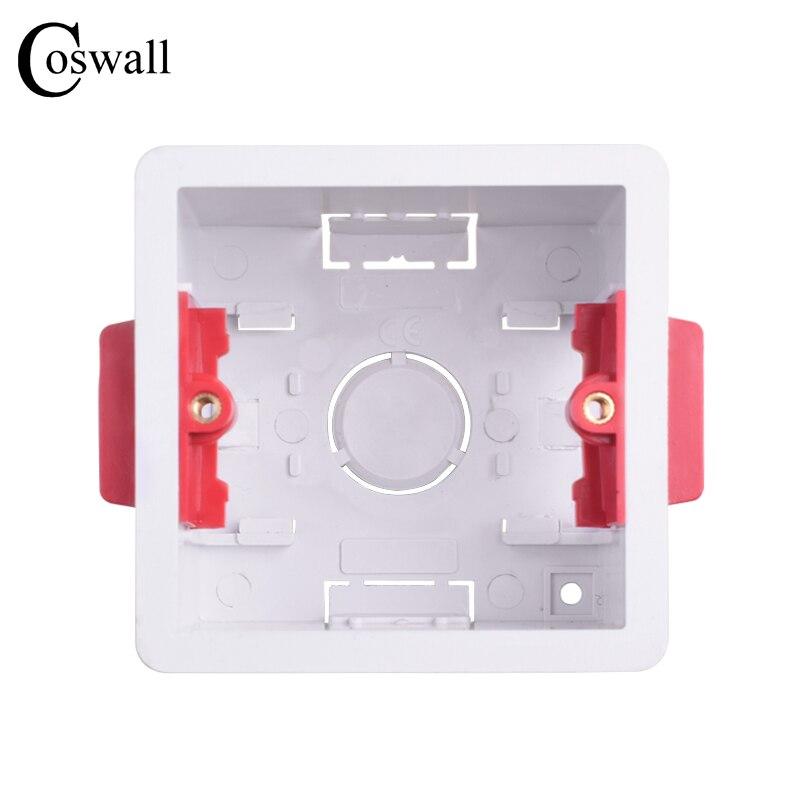 Coswall 1 банда сухая подкладка коробка для гипсокартона Plasterboad 47 мм Глубина настенная коробка переключателей настенная розетка кассеты