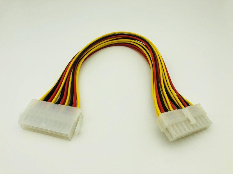 5 uds 20 Pin macho a 20 pines hembra interna PC PSU adaptador de alimentación ATX extensión Cable conector placa base 20 P alimentación para escritorio