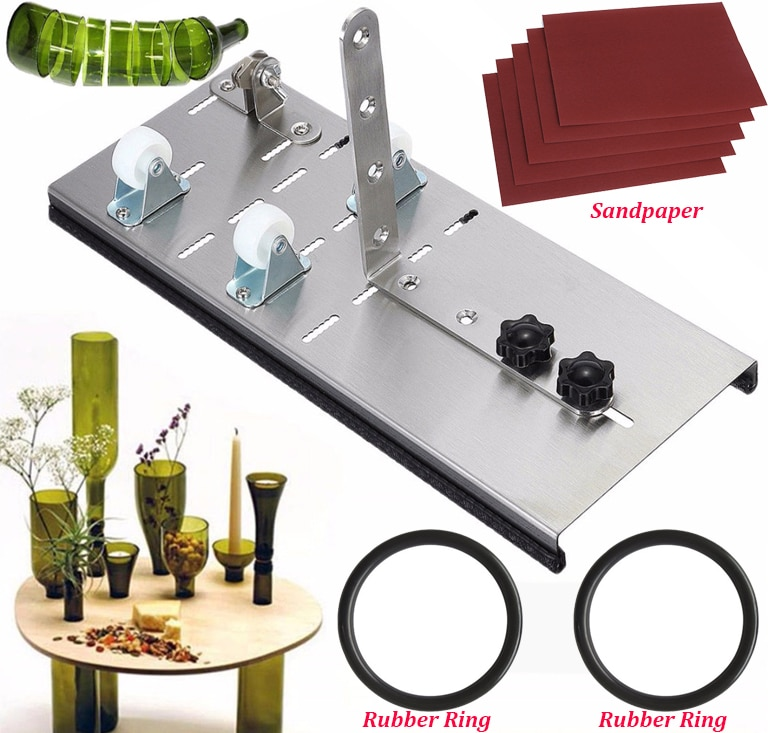 Cortador de botellas de vidrio para cerveza, herramientas de corte, máquina cortadora de botellas de vidrio, cortador de vidrio DIY, herramientas para reciclar vidrio, piezas