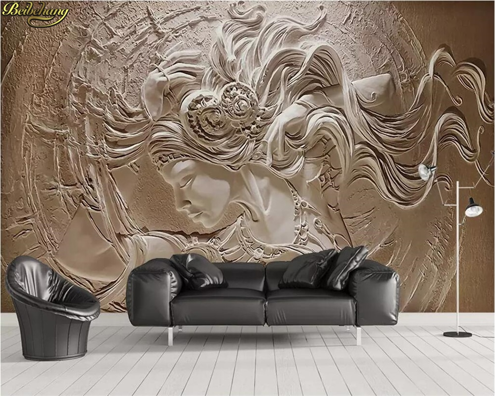 beibehang Custom photo wallpaper mural 3D embossed beauty background wall painting papers home decor papel de parede 3d