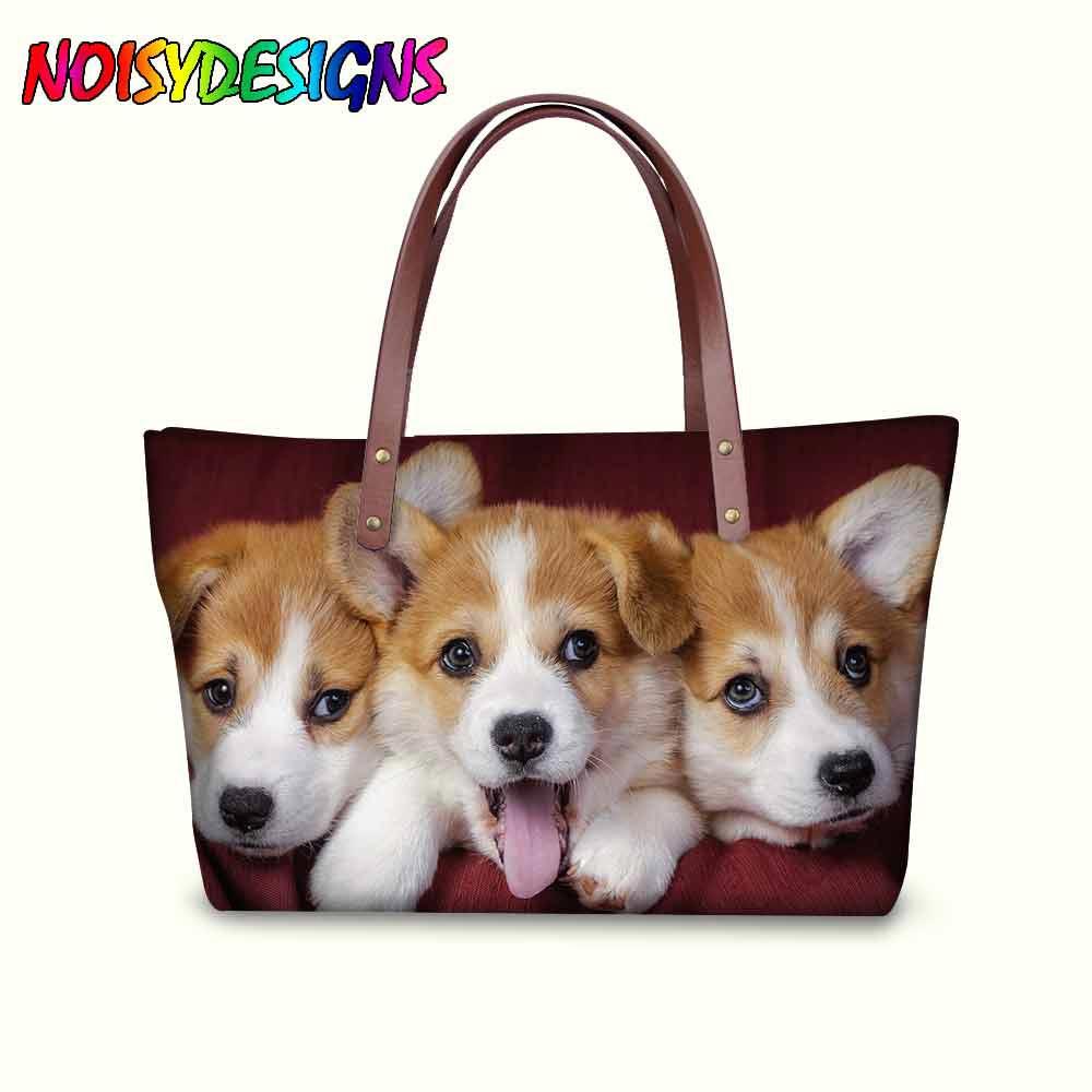 Bolsos de mano para Mujer, corgis de colores para perros y café, bolso cruzado para Mujer, bolso de viaje para Mujer, bolso gris, Bolsos principales para Mujer