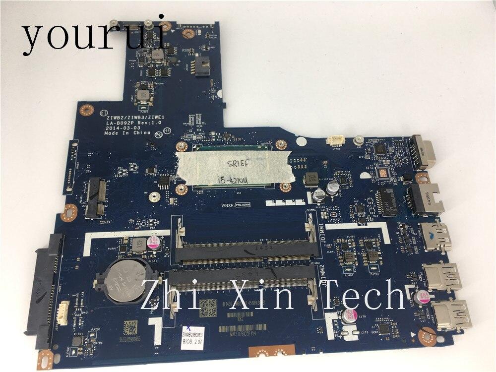 Yourui الأصلي لينوفو B50-70 اللوحة المحمول مع i5-4210u CPU ZIWB2/ ZIWB3/ZIWE1 LA-B092P اختبارها بشكل كامل العمل الجيد