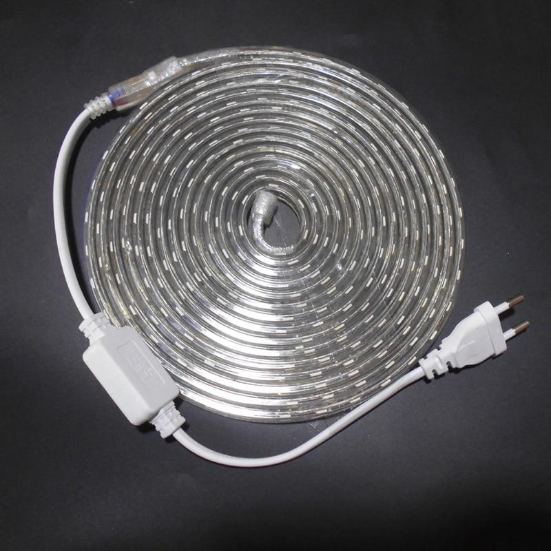 LED Strip Light SMD 5050 AC 220V LED Strip Flexible Light 1M/2M/3M/4M/5M/6M/7M/8M/9M/10M/15M/20M +Power Plug,60leds/m 230V 240V