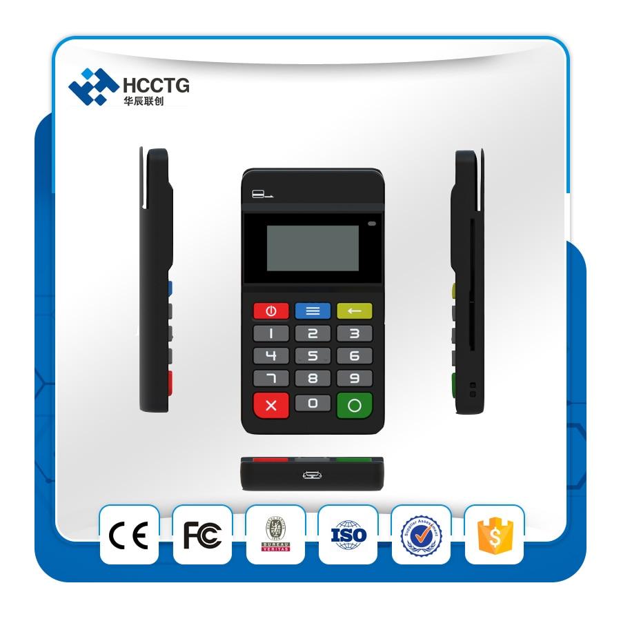 Mobile Payment Terminal PCI + EMV Zertifiziert Bluetooth MPOS Mit Tastatur HTY711