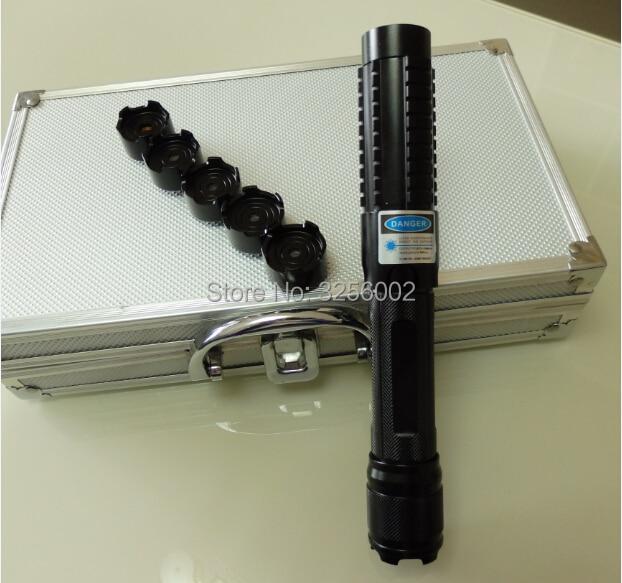 Hot! Most Powerful Military 450nm 200000m 200w Blue laser pointer Flashlight Light Burning Match/dry wood/black/Burn Cigarettes
