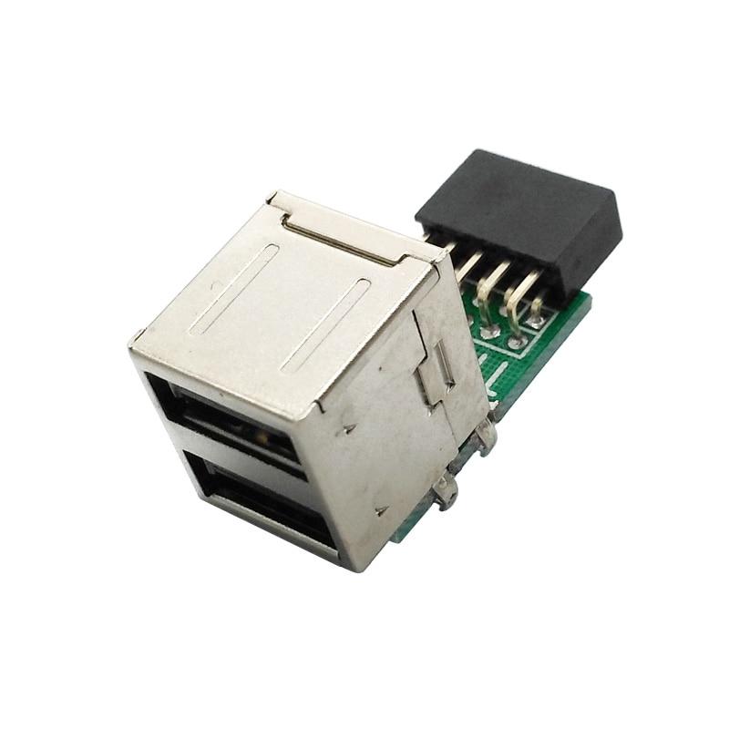 Boîtier hôte PC carte mère interne USB 2.0 Hub 9Pin à 2 ports USB A séparateur femelle convertisseur carte PCB carte dextension