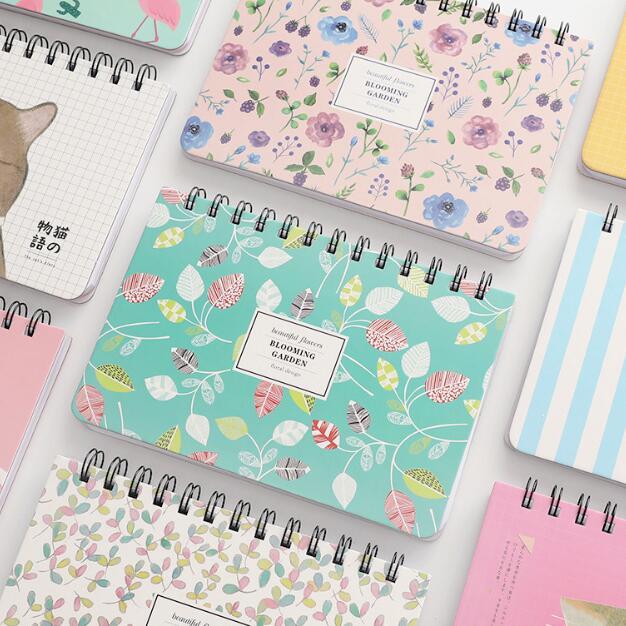 1 шт., Корейская Цветочная катушка, еженедельник, спиральная записная книжка, молочная записная книжка, записная книжка, школьные блокноты, подарок на день рождения