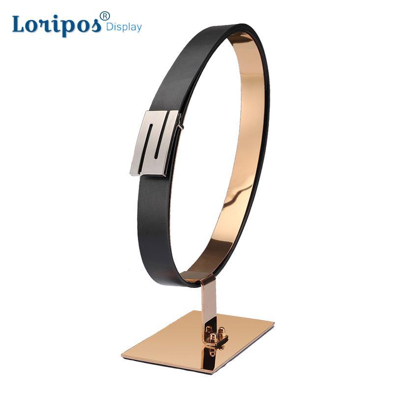Cinturón de visualización bastidores de acero inoxidable faja pantalla soporte de escritorio de cuero cinturón de cintura de Boutiques pantalla Accesorios