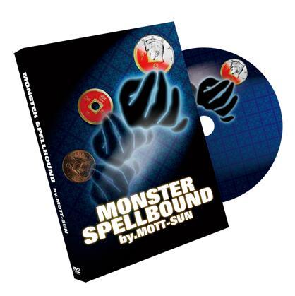 Монстер SPELLBOUND (мерцающий + DVD) крупным планом магические трюки иллюзии монеты Исчезающие появляющиеся магии реквизит уличная мага волшебник