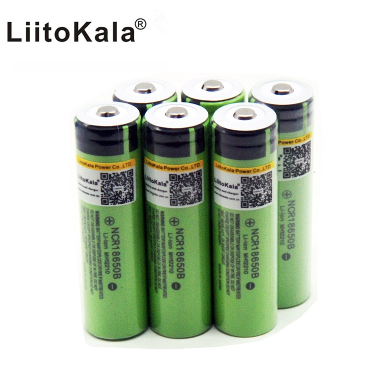 Nuevo liitokala original 18650 3400mAh batería 3,7 V Li-ion batería recargable sin PCB protegida 18650B18650 3400