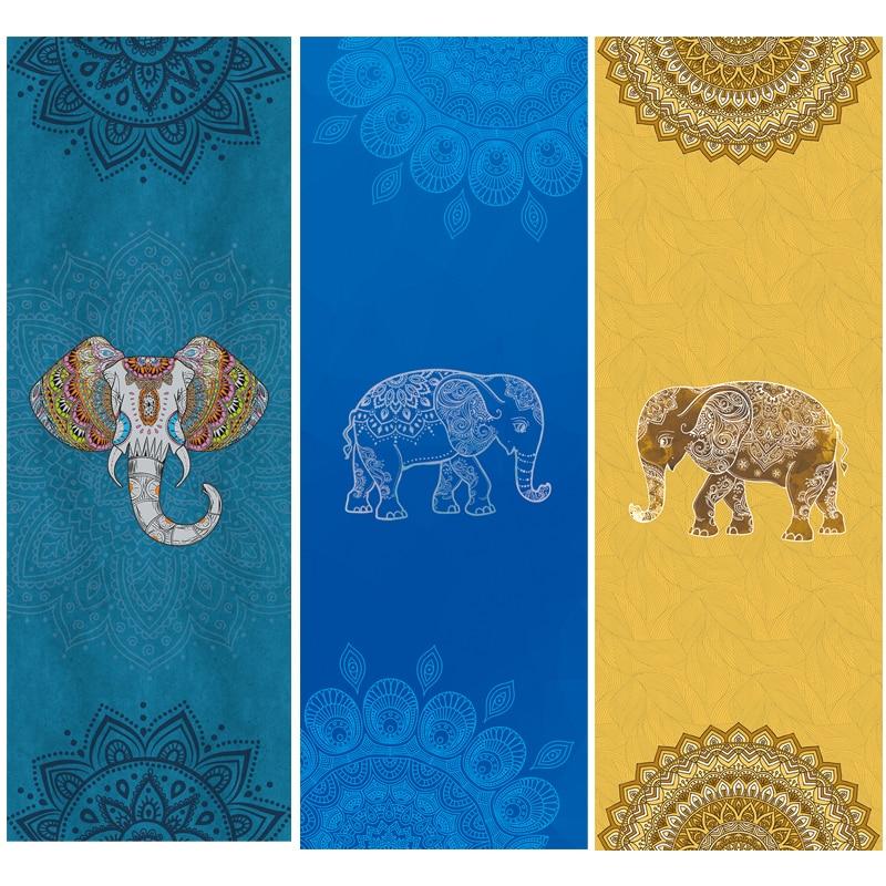 New Wisdom Elephant Yoga Pads Towel Microfibre Anti Skid Fitness Gym Pilates Pad Cover Sports Exercise Mat Soft Cover Towel