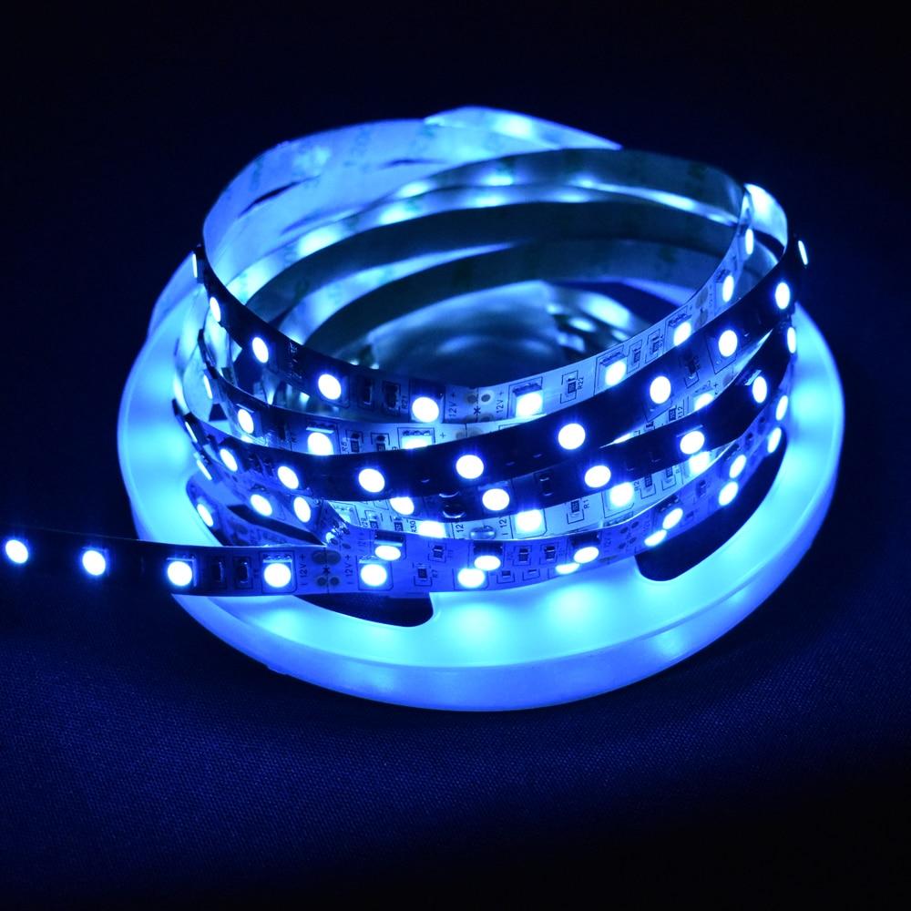 Tira de luz LED azul hielo GRN-FLASHING 5050 5M 60 Led/m DC12V No impermeable LED lazo cinta flexible para decoración de interiores