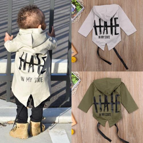 Одежда для новорожденных мальчиков, пальто с капюшоном и длинными рукавами, куртка из 100% хлопка