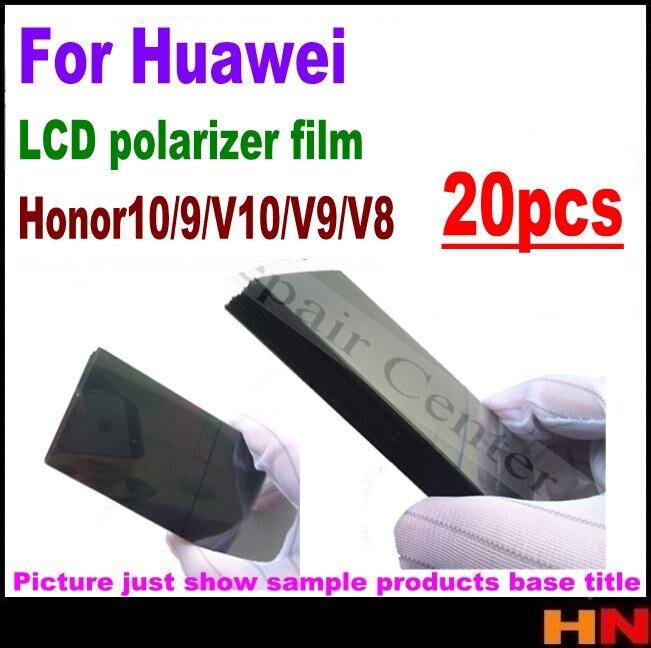20pcs lcd polarizador film para Huawei honor 10 9 lite V10 V9 V8 filtro polarizador LCD film polaroider