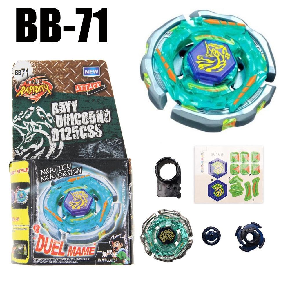 B71 girando topo metal fusão BB-71 ray striker unicorno d125cs 4d spinning topo gota compras