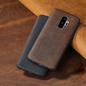 Luxury Phone Cases For Samsung Galaxy Note 8 9 S7 Edge S8 S9 Plus Crazy horse skin Back Cover A5 A7 A8 2018 J5 J6 J7 2017 case