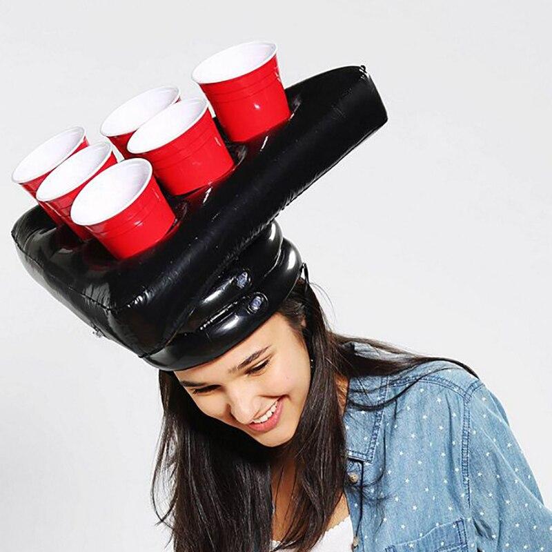 Надувная шляпа для пивного понга, плавающая игра для бассейна, товары для вечеринок, пляжные надувные игрушки для детей, гигантский пивной понг